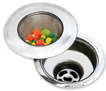 Mesh Sink Strainer Chrome Coated Or Polished Surface