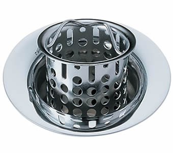 Stainless steel basket sink strainer with a handle basket in the strainer body